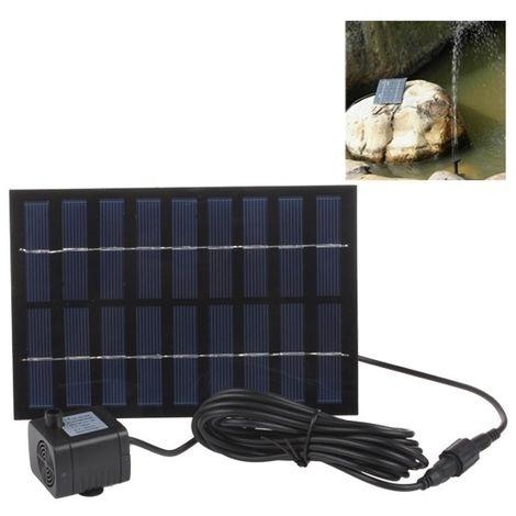 Pompe à eau solaire rectangle de 9V 2W