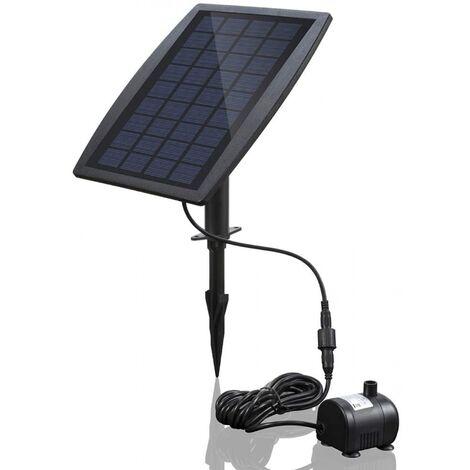 Pompe à eau solaire,sans brosse pour bassin Pompe à eau solaire pour fontaine avec panneau solaire 9V 2.5W 200L / H.