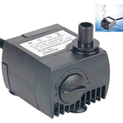 Pompe à eau submersible de cordon de 80-550GPH 6 pieds pour le réservoir de poissons d'étang d'aquarium de fontaine