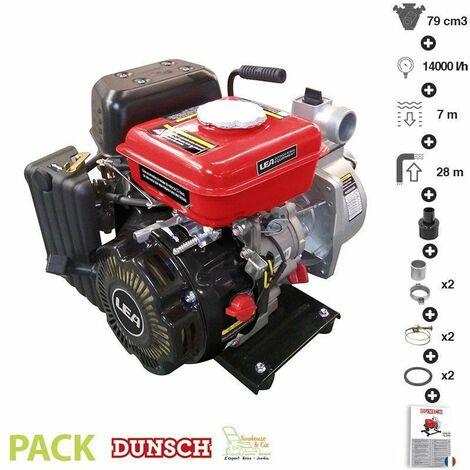 """main image of """"Pompe à eau thermique motopompe 4 temps 14000 l/heure LEA LE71079 79cm3 1,6cv - Rouge"""""""