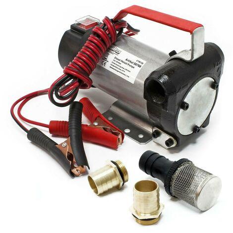 Pompe à Fuel Gasoil Auto-aspirante 12V/160W 40l/min