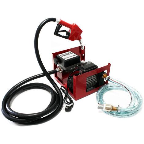 Pompe à Fuel Gasoil bio Autoaspirante 230V/750W 80l/min Pistolet Auto.