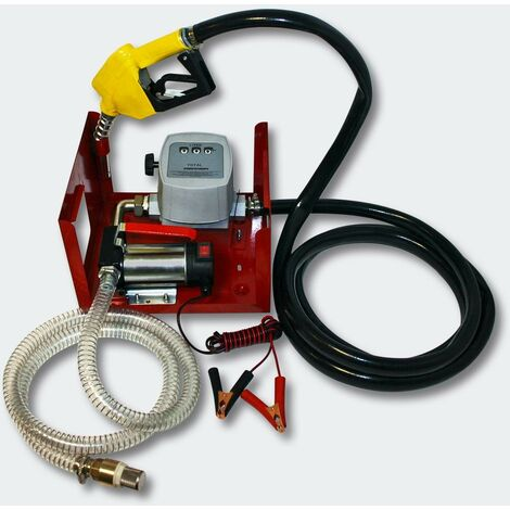 Pompe à Fuel Gasoil bio Autoaspirante 24V/150W 40l/min Pistolet Auto