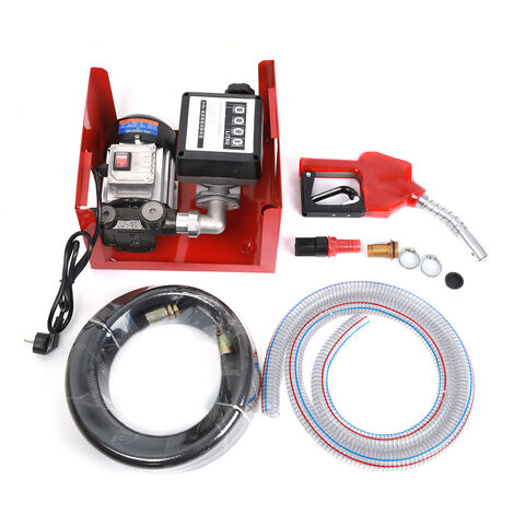 Pompe à Fuel ou Gasoil bio Autoaspirante 230V/375W 40l/min Mobile Pistolet Auto.