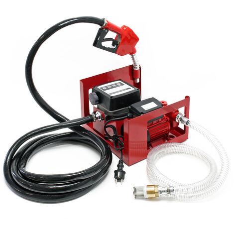 Pompe à Fuel ou Gasoil bio Autoaspirante 230V/600W 40l/min Mobile Pistolet Auto.