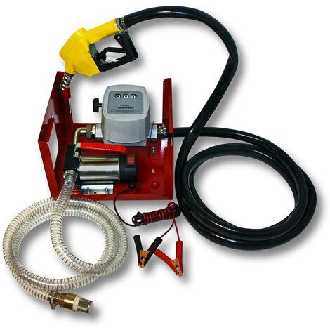 Pompe à Fuel ou Gasoil bio Autoaspirante 24V/150W 40l/min Mobile Pistolet Auto.