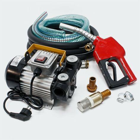 Pompe à gasoil - mazout - diesel 50l/m 550W 230V avec pistolet