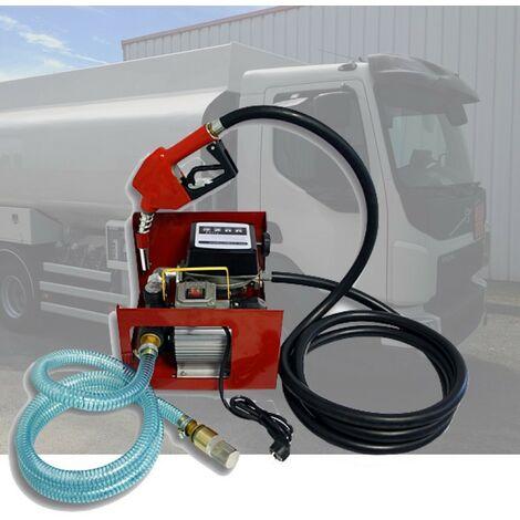 Pompe à Gasoil, Mazout, Diesel, 60l/m, 550W, Compteur + pistolet
