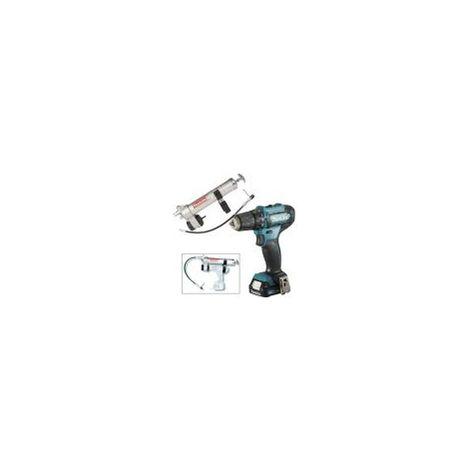 Pompe à graisse 12 V Li-Ion 2 Ah ( kit d'accessoires) + Perceusse visseuseMAKITA LOT0169