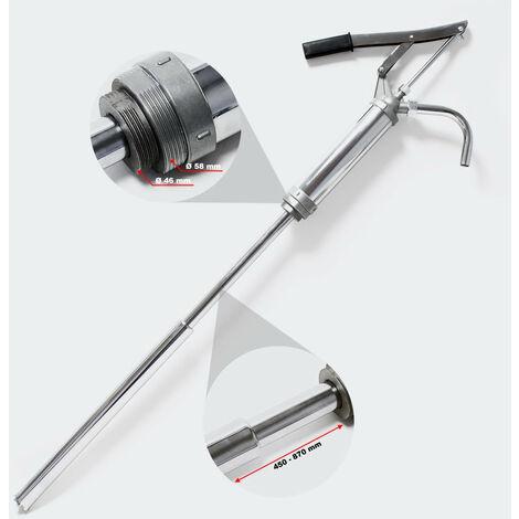 Pompe à manivelle 16-18 litres par minute vide fût baril pour diesel fuel gasoil - Noir