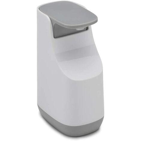 Pompe à Savon Liquide Compacte, Plastique, Blanc/Gris, 9,2 x 7,7 x 14,6 cm