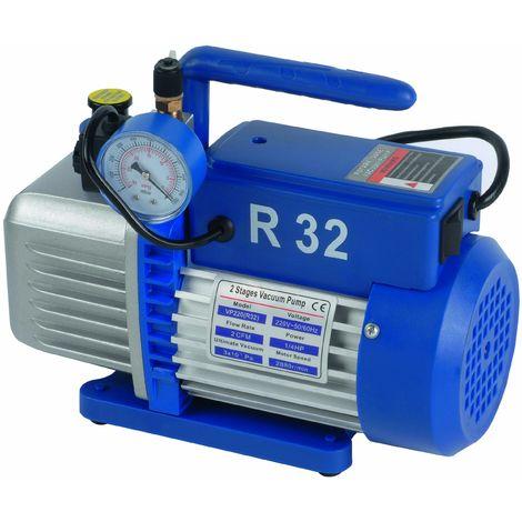 Pompe à vide 42 L/mn avec électrovanne et vacuomètre