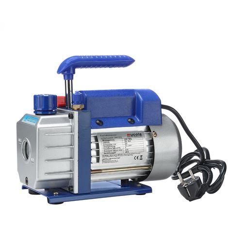 Pompe à vide Aluminium 2 étages 284L/min Compresseur de climatisation Boîtier de pompe en aluminium Poignée industrielle Industrie