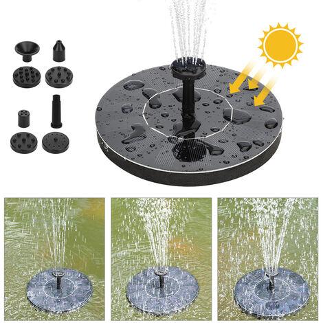 Pompe aeau solaire fontaine jardin cour paysage petite fontaine