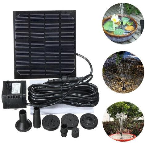 Pompe aeau solaire, fontaine solaire, fontaine flottante miniature de jardin