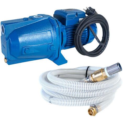 Pompe auto amorçante série JET 230V 0.75kW / 1cv avec 3m de câble + kit aspiration 7m Ø25mm
