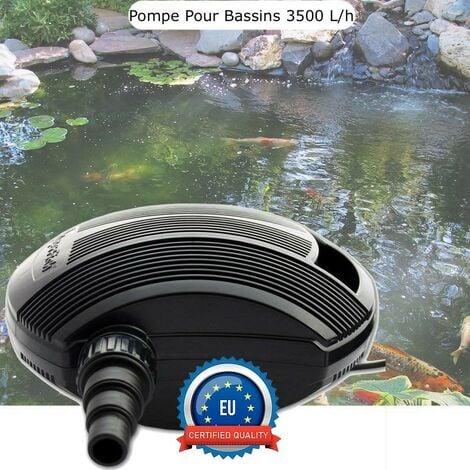 Pompe Bassin 3500 l/h De Qualité, Pour Bassins De Jardin De 3000 L - Noir