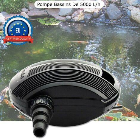 Pompe Bassin 5000 l/h De Qualité, Pour Bassins De Jardin Jusqu'à 5m3 - Noir