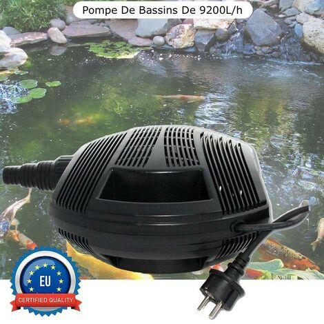 Pompe Bassin 9200 l/h De Qualité, Pour Bassins De Jardin Jusqu'à 10m3 - Noir