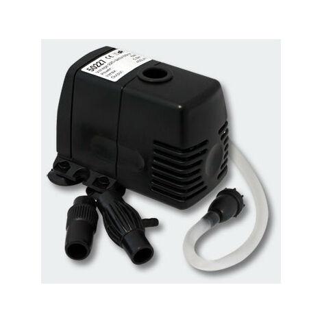 Pompe d'aquarium avec Tuyau d'air 400l/h 5W - Noir