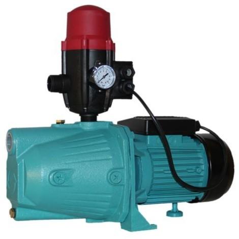 Pompe d'arrosage JET100 avec pressostat POMPE DE JARDIN pour puits 1100 W 60l/min + BRIO SK-13