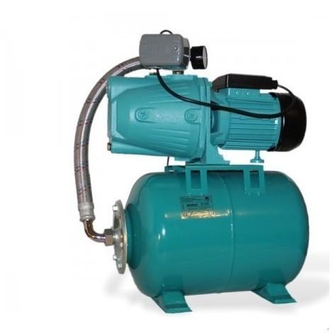 Pompe d'arrosage JET50 avec manomètre, interrupteur et ballon 100L, POMPE DE JARDIN pour puits 600 W, 3000l/h, 230V, JET50100L