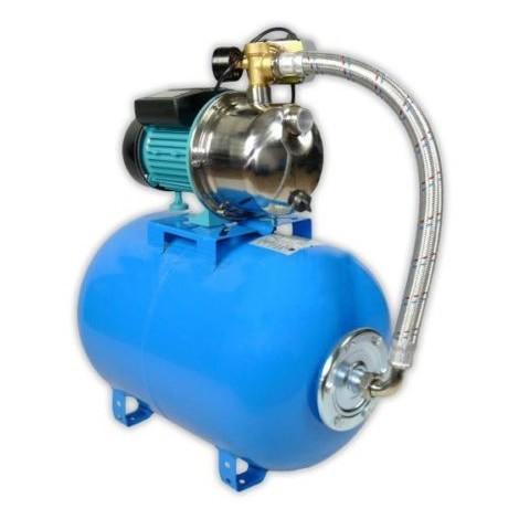 Pompe d'arrosage POMPE DE JARDIN pour puits 1100 W 60l/min avec ballon surpresseur 24L