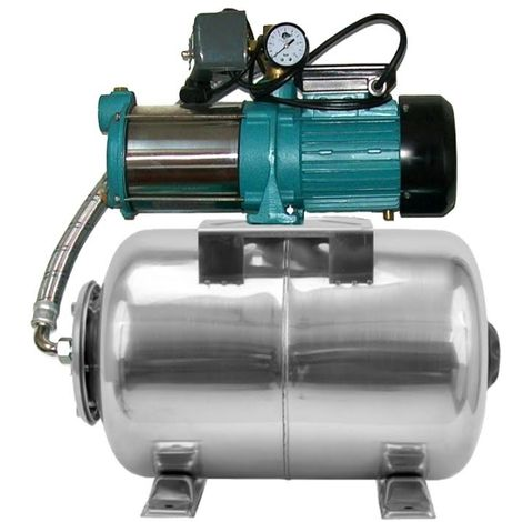 Pompe d'arrosage POMPE DE JARDIN pour puits 1800W 150l/min avec ballon surpresseur80L INOX