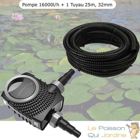 Pompe De Bassin, Néo HYPER ECO, 16000 l/h 140W + 1 Tuyau 25 Mètres, 32 mm