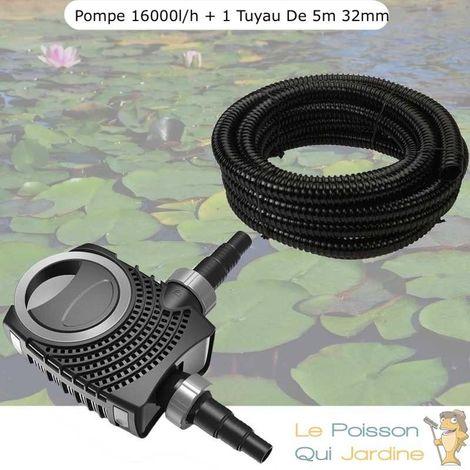 Pompe De Bassin, Néo HYPER ECO, 16000 l/h 140W + 1 Tuyau 5 Mètres, 32 mm