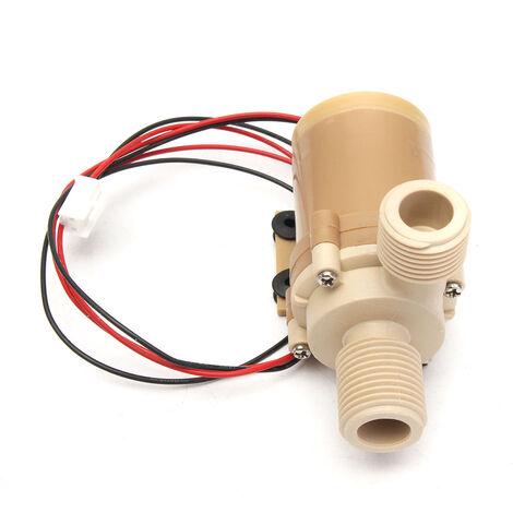 Pompe de circulation d'eau chaude solaire 12V / 24V DC Pompe à eau moteur sans brosse 3M 110 ℃ 12V