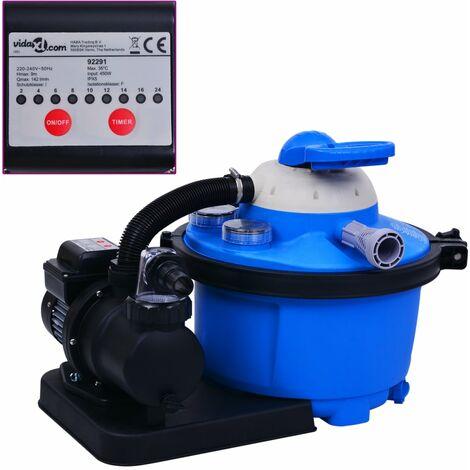 Pompe de filtration a sable avec minuterie 450 W 25 L