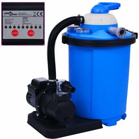 Pompe de filtration a sable avec minuterie 550 W 50 L