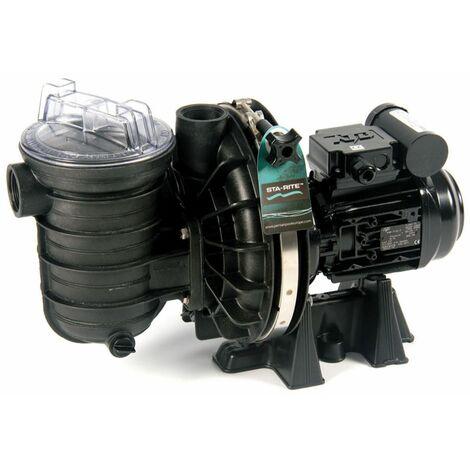 Pompe de filtration piscine sta-rite s5p2rc-1 0.50cv (0.37kw) mono débit 8.5m3/h compatible avec électrolyseur