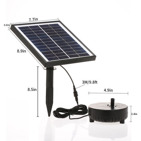 Pompe de fontaine flottante solaire 12V 5W pour Birdbath