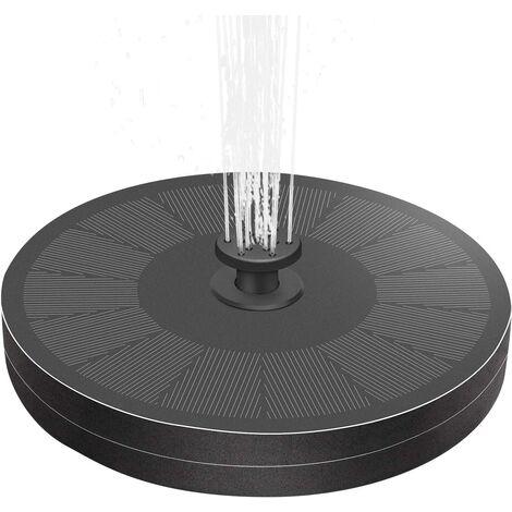 Pompe de fontaine solaire pour bain d'oiseaux 2021 3W, version améliorée de la fontaine solaire fixe et flottante, avec batterie de secours et 8 buses, pompe de fontaine solaire extérieure pour piscine d'étang de jardin