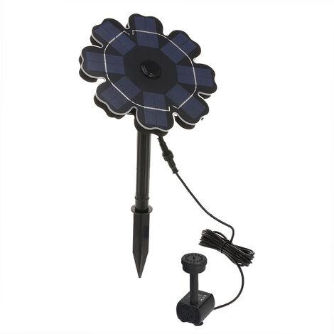 pompe de fontaine solaire pour panneau solaire en forme de. Black Bedroom Furniture Sets. Home Design Ideas