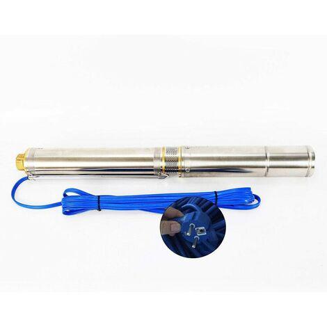 Pompe de Puits Profond 550W Pompe Immergée Pompe de Puits Submersible 6.000 L/h