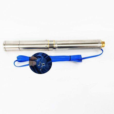 Pompe de Puits Profond 750W Pompe Immergée Pompe de Puits Submersible 6.000 L/h