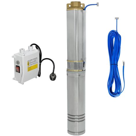 Pompe puits profond forage submersible pompe à eau immergée 370W 4000 l/h 3,4bar