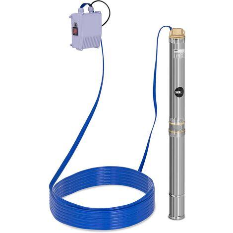 Pompe De Puits Submersible Pompe De Forage Commande 3.800 L/H Acier Inoxydable