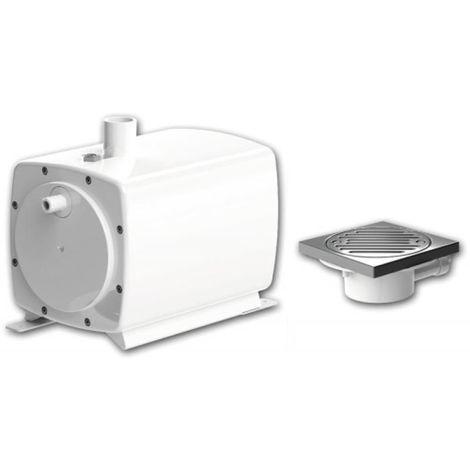 Pompe de relevage de douche Sanifloor+ 1 avec bonde de sol à carreler 68mm