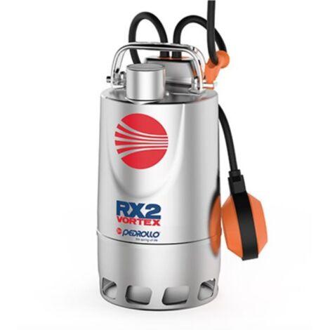 Pompe de relevage eaux pluviales Inox monophasé 220V - 0.37Kw - 180L/min - roue Vortex