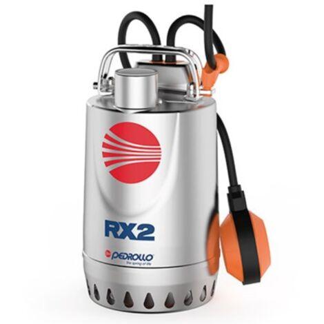 Pompe de relevage eaux pluviales Inox monophasé 220V - 0.55Kw - 180L/min - roue vortex