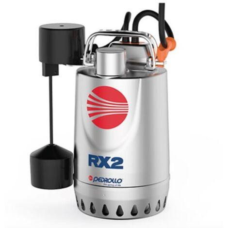 Pompe de relevage eaux pluviales inox monophasé 220V - 0.55Kw - 220L/min avec flotteur vertical
