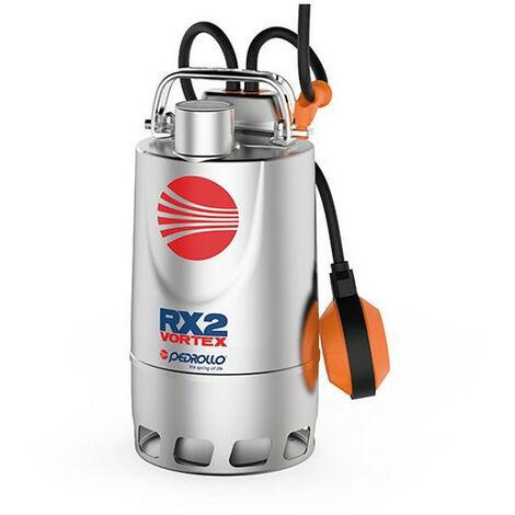 Pompe de relevage eaux pluviales Inox monophasé 220V - 1.1Kw - 380L/min - roue Vortex