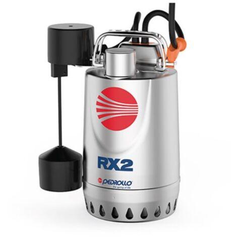 Pompe de relevage eaux pluviales Inox triphasé 380V - 0.75Kw - 280L/min - roue vortex