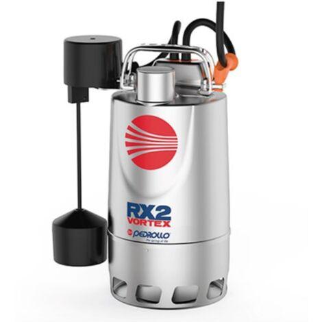 Pompe de relevage eaux pluviales Inox triphasé 380V - 1.1Kw - 380L/min - roue Vortex