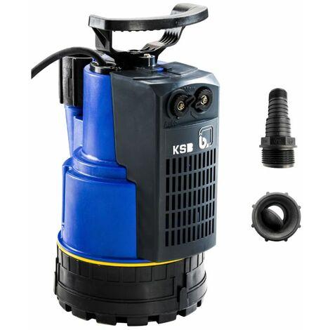 """Pompe de relevage KSB Ama-Drainer N vide cave jusqu'à 14 m3/h monophasé 220V   220 V - 1""""1/4 - 33/42 F - De 0 à 10 m3/h - Eau agressive - 5,2 Kg - 0,43 kW - De 6,5 à 1 HMT"""