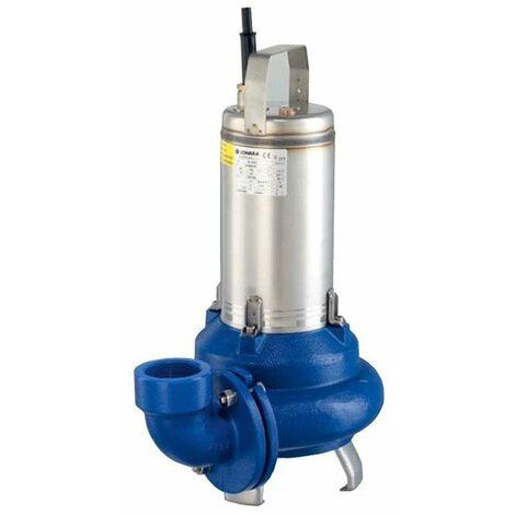 Pompe de relevage Lowara DL80 évacuation eaux chargées pour la vidange de fosse septique pour relever l'eau dans les égouts immergée Triphasé 0,6Kw